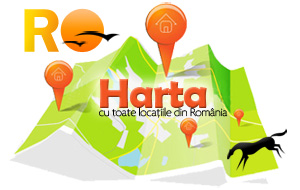 Harta turistica a Romaniei