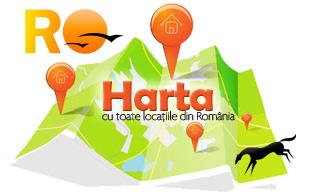 Harta turistica a Romaniei